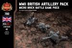 WWII British Artillery Pack - 17-Pounder Anti-Tank Gun, 25 Pounder Field Gun, and Bofors 40mm Anti-Aircraft Gun